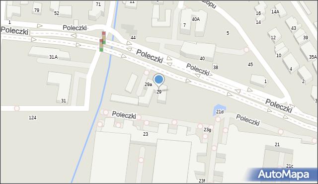 Warszawa, Poleczki, 29, mapa Warszawy