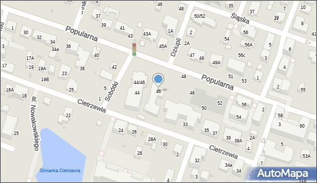 Warszawa, Popularna, 4-6, mapa Warszawy