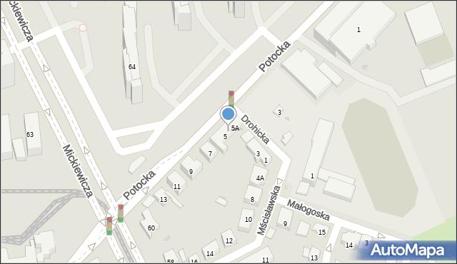 Warszawa, Potocka, 5B, mapa Warszawy