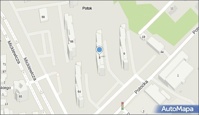 Warszawa, Potocka, 8, mapa Warszawy