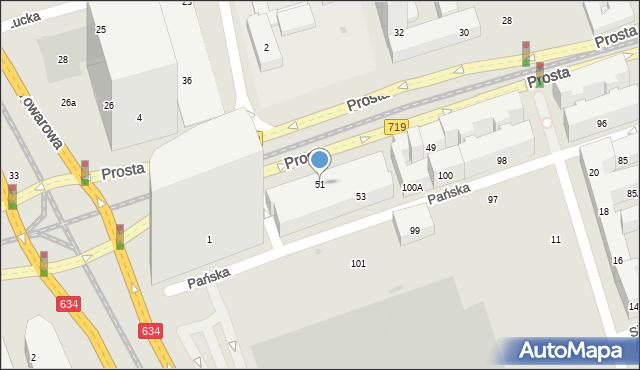 Warszawa, Prosta, 51, mapa Warszawy