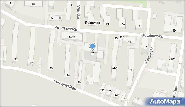 Warszawa, Pruszkowska, 17, mapa Warszawy