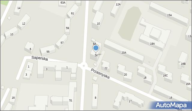 Warszawa, Przasnyska, 24, mapa Warszawy