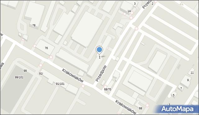 Warszawa, Przedpole, 1, mapa Warszawy