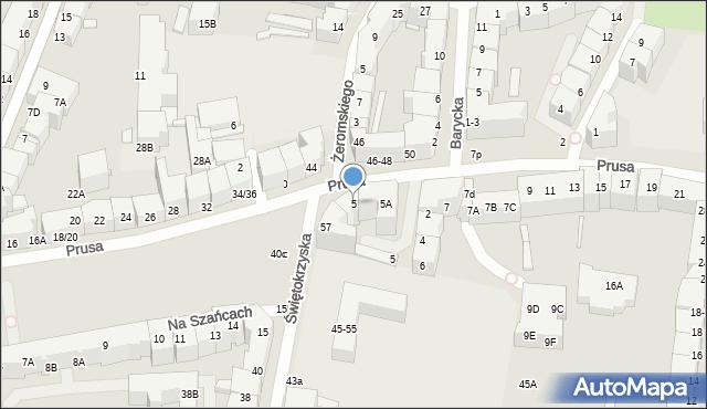 Wrocław, Prusa Bolesława, 5, mapa Wrocławia