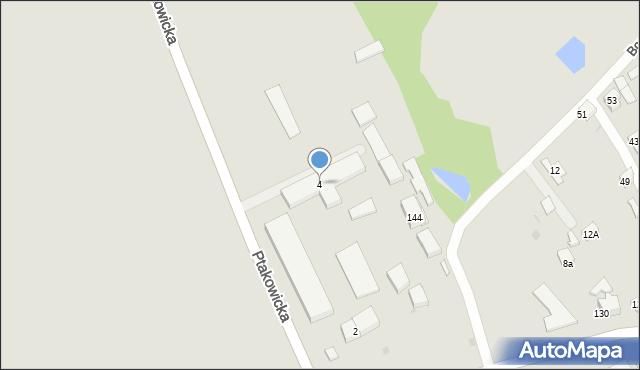 Bytom, Ptakowicka, 4, mapa Bytomia