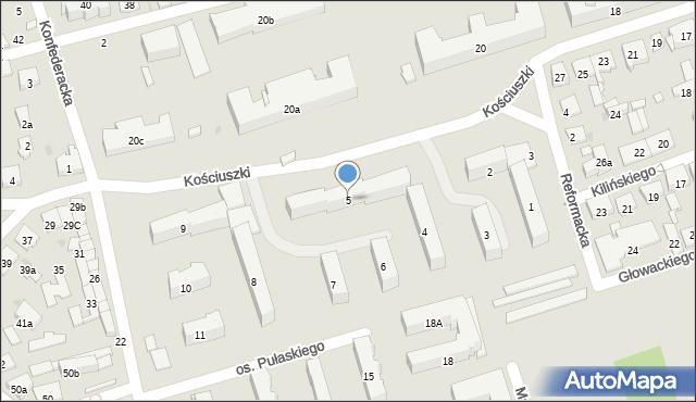 Jarosław, Pułaskiego Kazimierza, 5, mapa Jarosławia