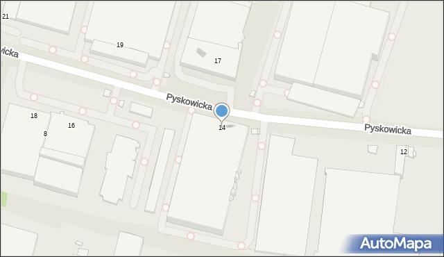 Zabrze, Pyskowicka, 14, mapa Zabrza