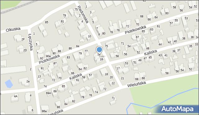 Gdynia, Radomska, 16A, mapa Gdyni