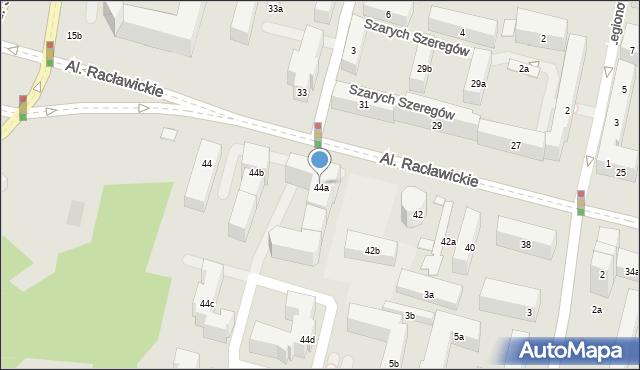 Lublin, Racławickie, al., 44a, mapa Lublina