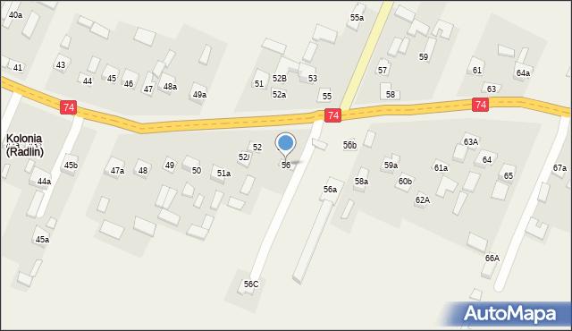 Radlin, Radlin, 56, mapa Radlin