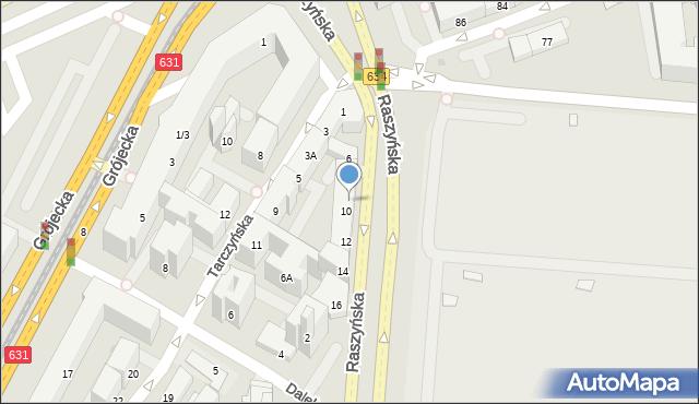 Warszawa, Raszyńska, 8/10, mapa Warszawy