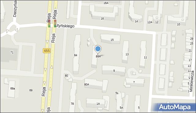 Suwałki, Reja Mikołaja, 84A, mapa Suwałk
