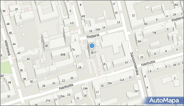 Warszawa, Rejtana Tadeusza, 15, mapa Warszawy