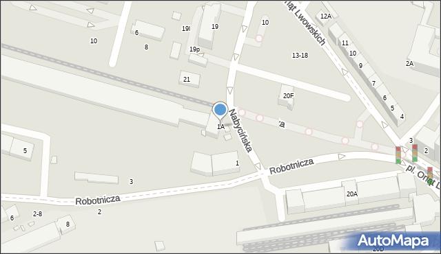 Wrocław, Robotnicza, 1A, mapa Wrocławia
