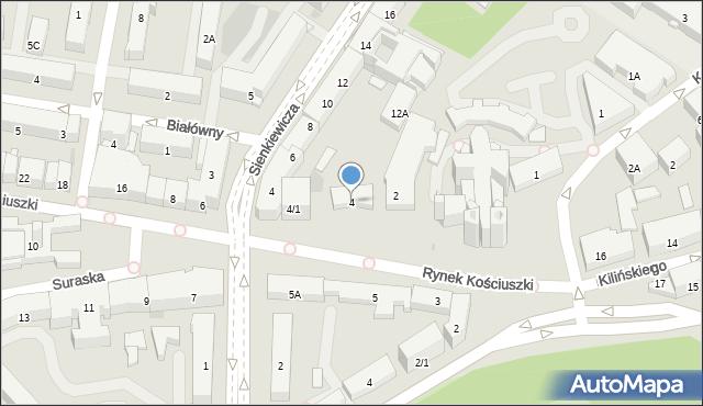 Rynek kościuszki białystok mapa