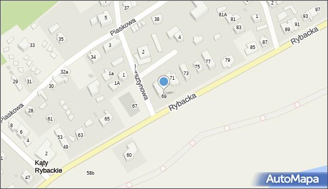 Kąty Rybackie, Rybacka, 69, mapa Kąty Rybackie