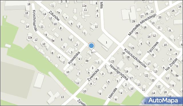 Kraków, Rynek Fałęcki, 7, mapa Krakowa