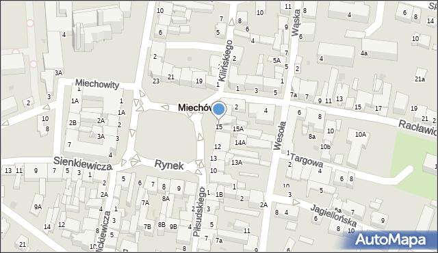 Miechów, Rynek, 15, mapa Miechów