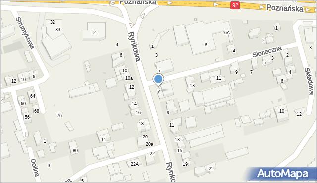Przeźmierowo, Rynkowa, 7, mapa Przeźmierowo