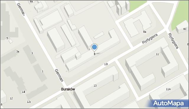 Warszawa, Rydygiera Ludwika, 8, mapa Warszawy