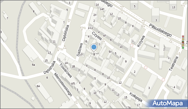 Sosnowiec, Sadowa, 8, mapa Sosnowca