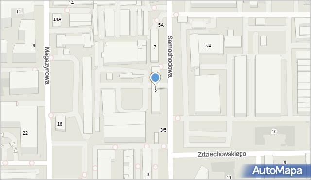 Warszawa, Samochodowa, 5, mapa Warszawy