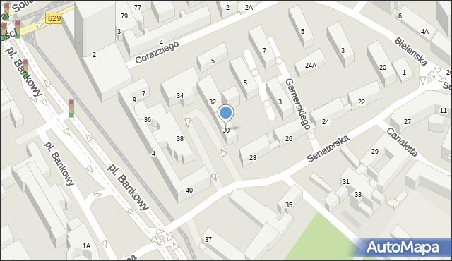 Warszawa, Senatorska, 30, mapa Warszawy