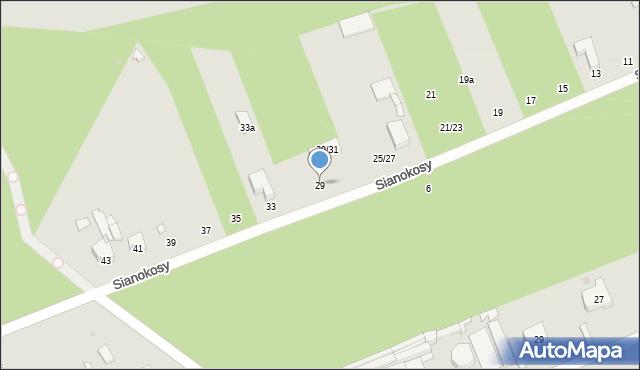Łódź, Sianokosy, 29, mapa Łodzi