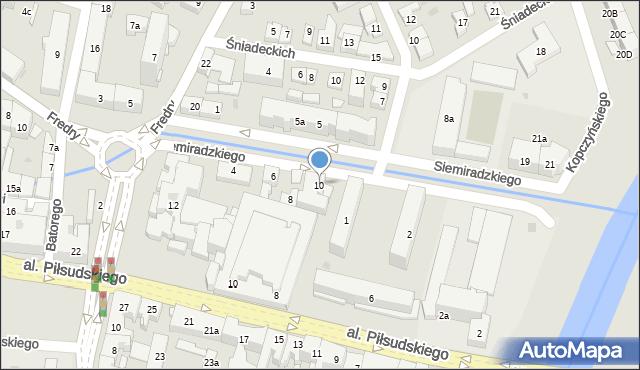 Rzeszów, Siemiradzkiego Henryka, 10, mapa Rzeszów