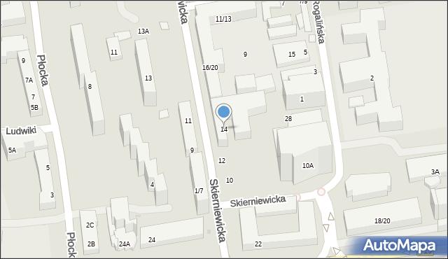 Warszawa, Skierniewicka, 14, mapa Warszawy