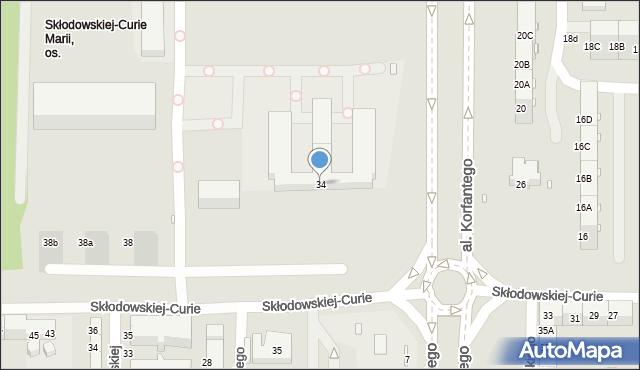 Zabrze, Skłodowskiej-Curie Marii, 34, mapa Zabrza