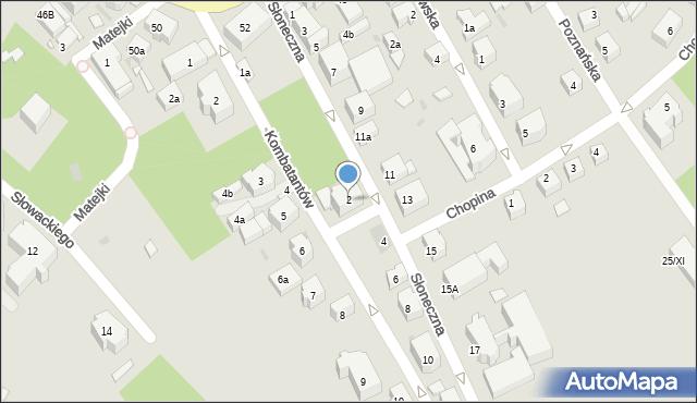 Kudowa-Zdrój, Słoneczna, 2, mapa Kudowa-Zdrój