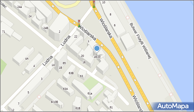 Warszawa, Solec, 18/20, mapa Warszawy