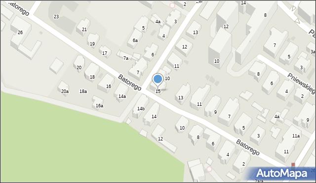 Gdańsk, Stefana Batorego, 15, mapa Gdańska