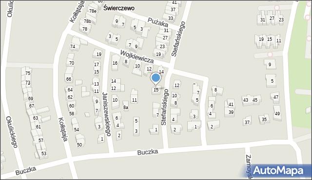 Poznań, Stefańskiego Walentego, 15, mapa Poznania