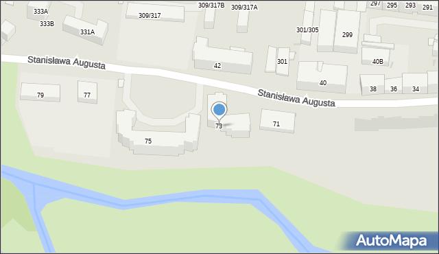 Warszawa, Stanisława Augusta, 73, mapa Warszawy