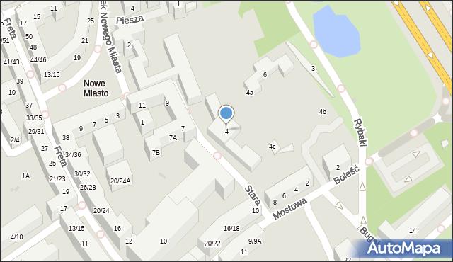 Warszawa, Stara, 4, mapa Warszawy