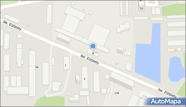 Bytom, św. Elżbiety, 6, mapa Bytomia