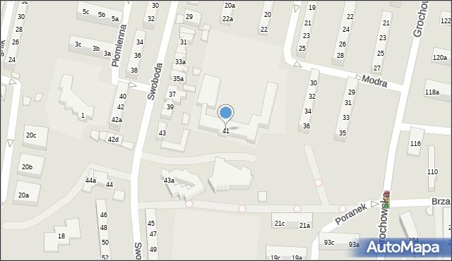 Poznań, Swoboda, 41, mapa Poznania