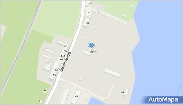 Szczecin, Światowida, 28, mapa Szczecina