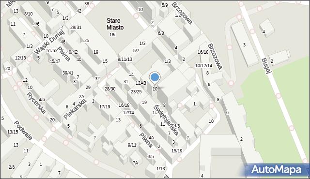 Warszawa, Świętojańska, 10, mapa Warszawy