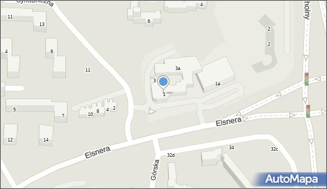 Lublin, Symfoniczna, 1, mapa Lublina