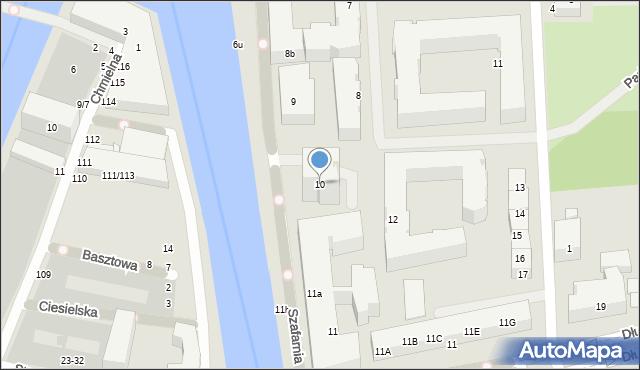 Gdańsk, Szafarnia, 10, mapa Gdańska