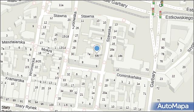 Poznań, Szewska, 5/6, mapa Poznania
