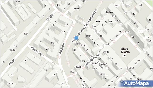 Warszawa, Szeroki Dunaj, 4/6, mapa Warszawy