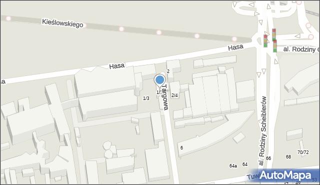 Łódź, Targowa, 1/3, mapa Łodzi