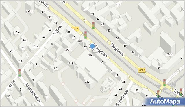 Warszawa, Targowa, 35, mapa Warszawy