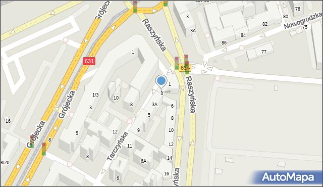 Warszawa, Tarczyńska, 3, mapa Warszawy