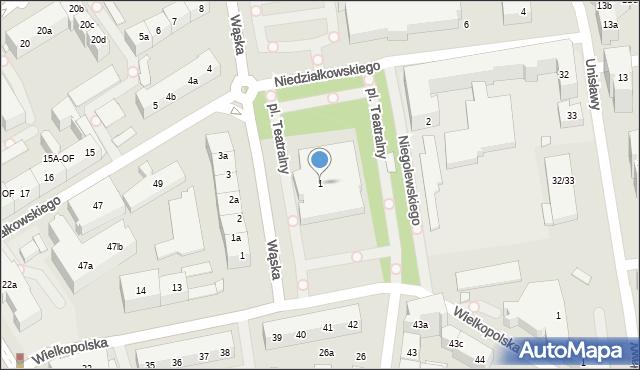 Szczecin, Teatralny, pl., 1, mapa Szczecina